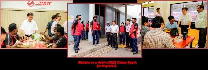 Minister Visit to Bishan Depot